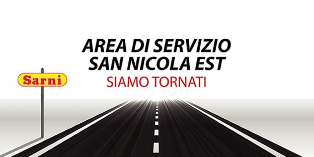 Area di servizio San Nicola Est: nuova apertura!